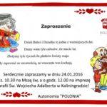 zaproszenie na Dzien Babc i Dziadka-2016