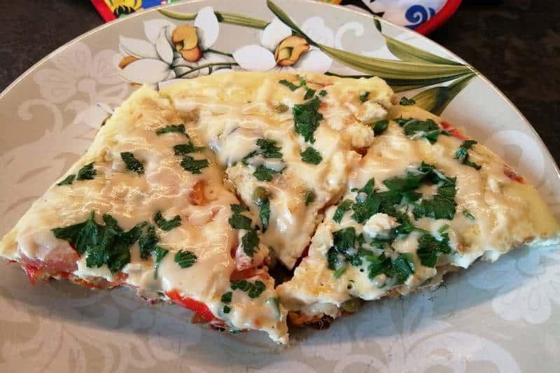 Омлет с овощами по-польски