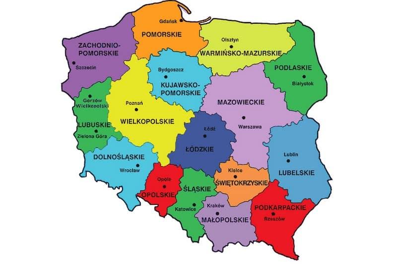 О воеводствах Польши