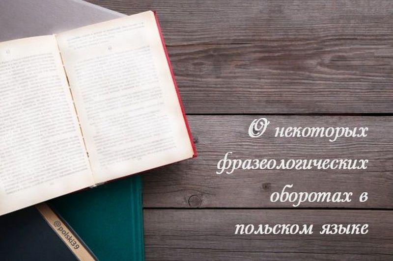 О некоторых фразеологических оборотах в польском языке