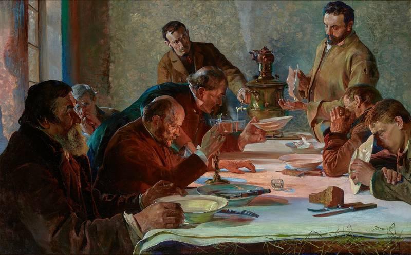 Польские традиции в живописи: «Сочельник в Сибири» Я. Мальчевски